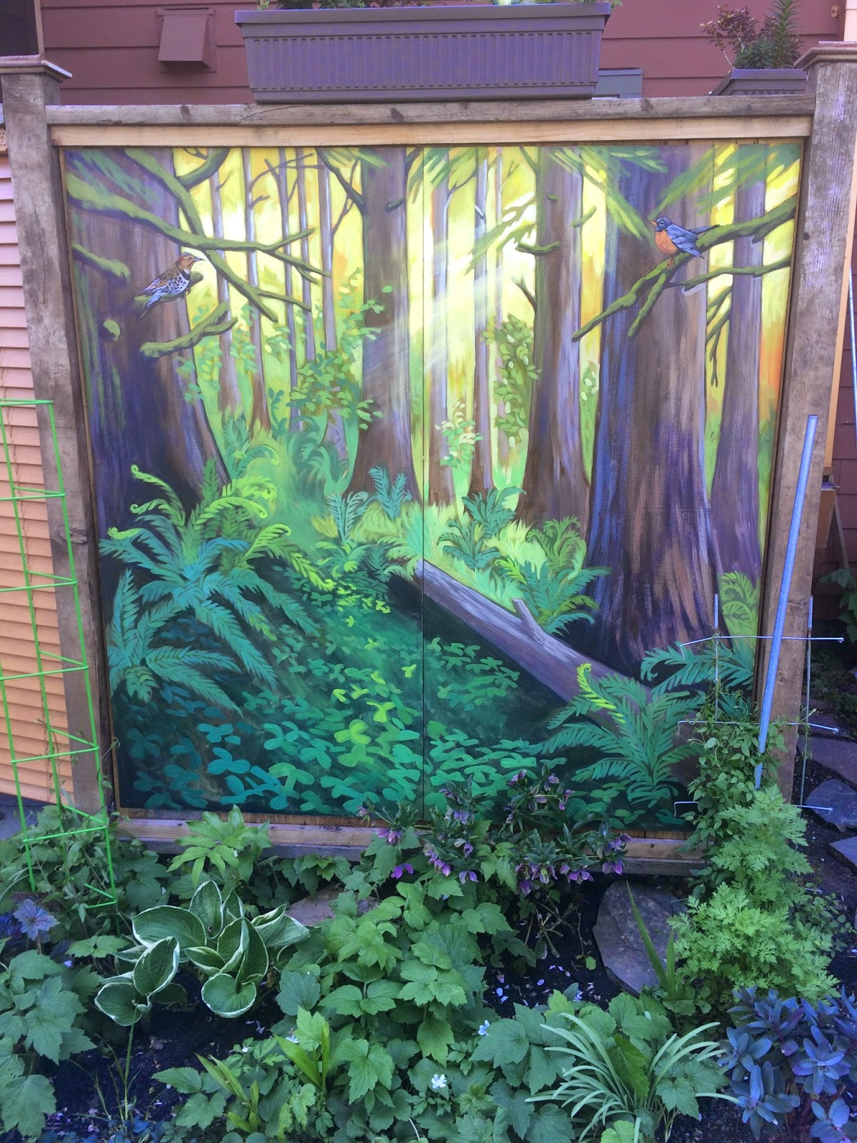 forest mural portland, portland forest mural, portland trees mural, pacific northwest mural