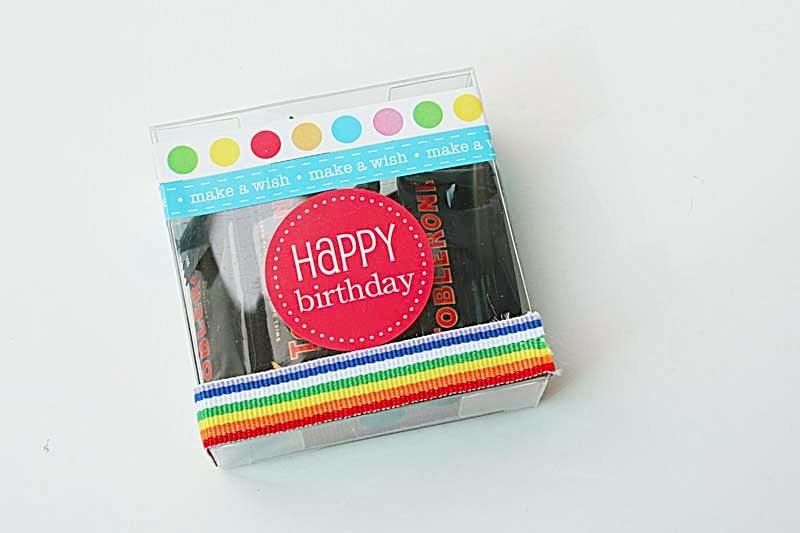SRM Stickers Blog - Birthday Gift Set by Yvonne - #muslin #bag #birthday #stickers #borders #clear box #gift