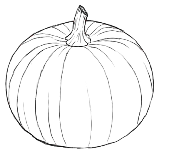 How to draw pumpkins for Awesome pumpkin drawings