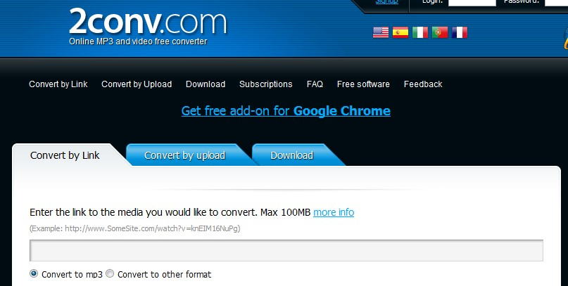 2conv video converter video to mp3 converter