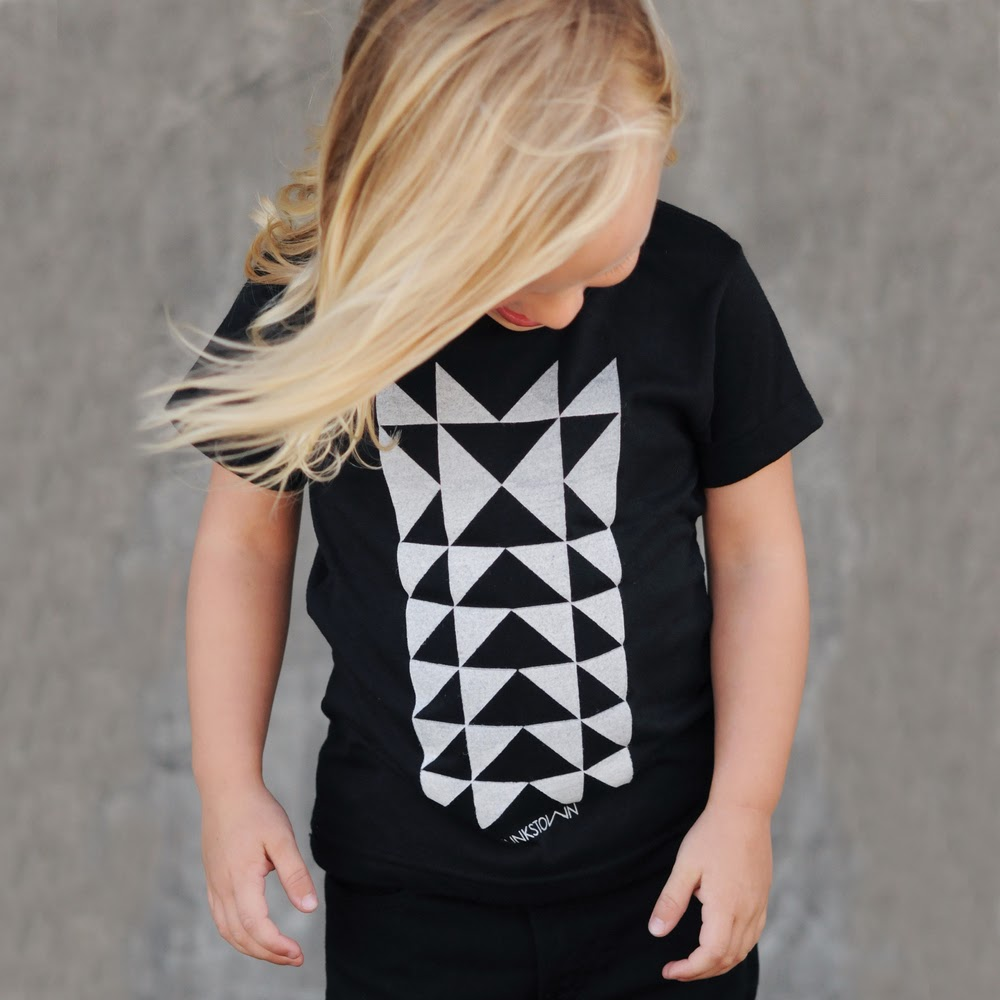 Climbing Triangle graphic tee by Munkstown for spring 2014 kidswear collection