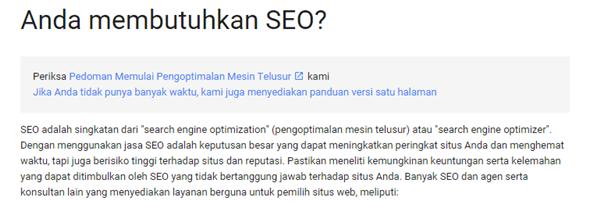 Bahaya Menggunakan jasa SEO Rank 1 di google untuk blogger