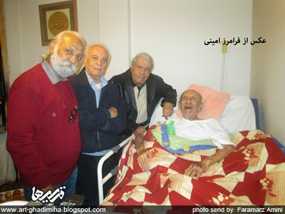 قدیمی ها: عکس / عیادت نصرت الله وحدت و شاهرخ نادری از مرتضی احمدی