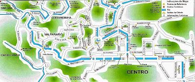 Mapa de Petrópolis