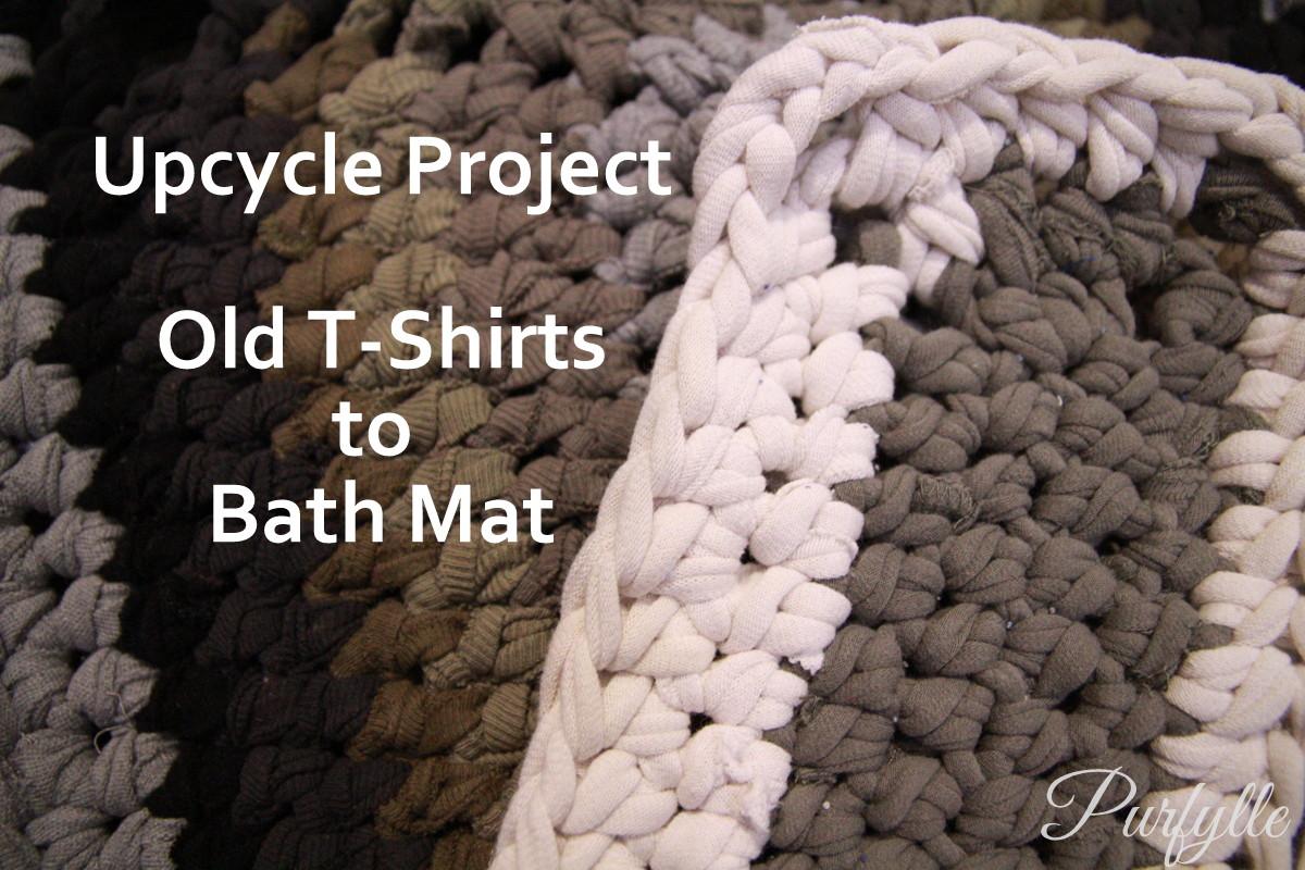 Purfylle: How I Made a T-shirt Bath Mat