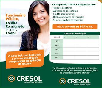 Funcionário Público, Crédito Consignado é com a Cresol