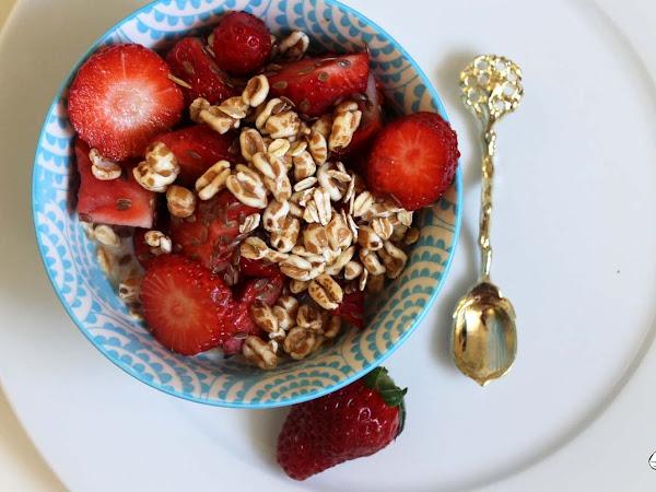 Gewinnerfrühstück - Erdbeer-Haferflocken-Dinkel Trifle
