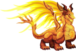 imagen del dragon sol adulto