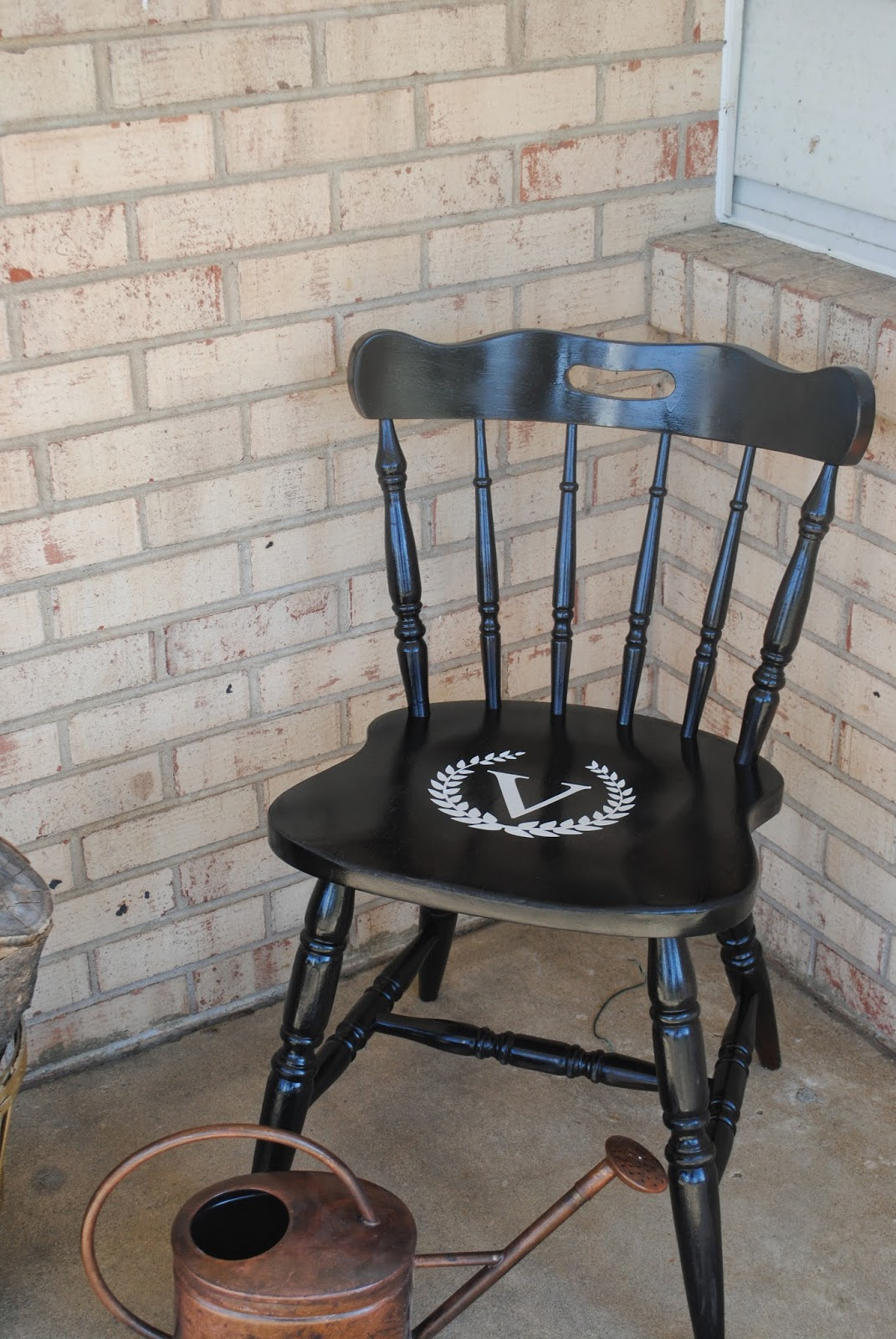 chair makeover wood spray paint vinyl