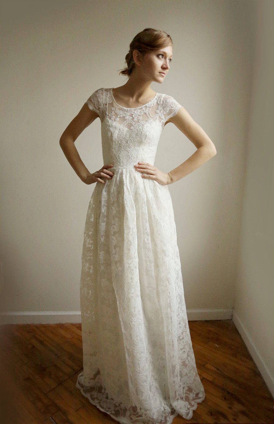Sk fashion talk cotton wedding dresses glad and surprised for Simple cotton wedding dress