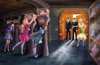 Scene from Barbie Princess Charm School