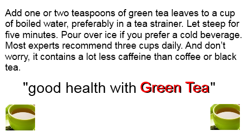 why drink green tea