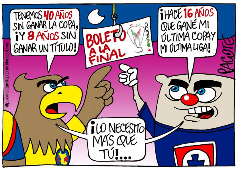 AGUILAS VS. CRUZ AZUL EN LA COPA