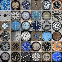 afbeelding van klokken