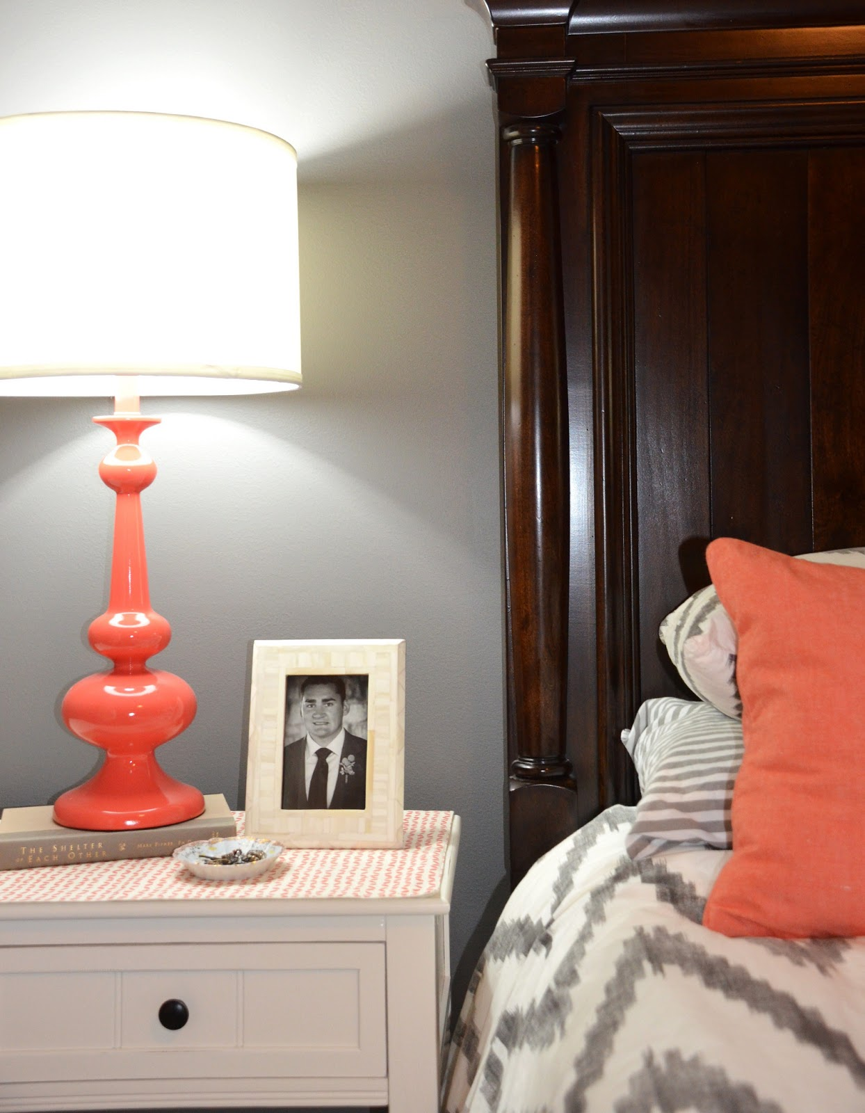 jessica stout design coral gray master bedroom my home