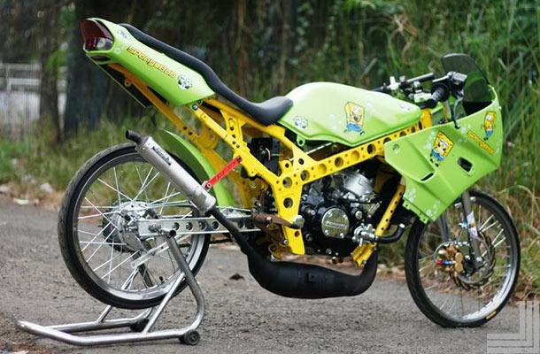 Foto Modifikasi Kawasaki Ninja R Keren Terbaru 2015