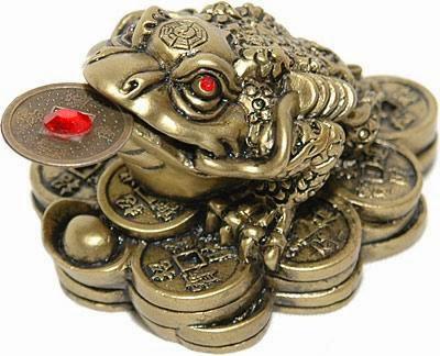 Negocio exitoso con el sapo de la suerte - Rana de tres patas feng shui ...