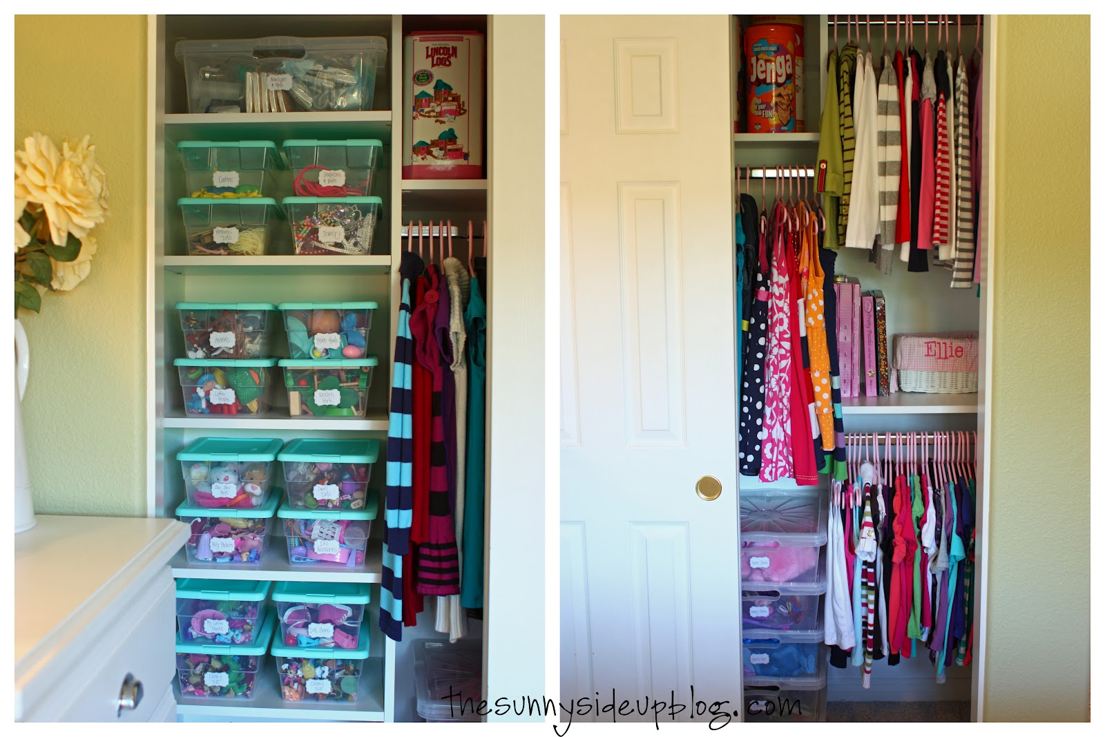 Organized kids 39 closet drawers the sunny side up blog for Organizing ideas for closets