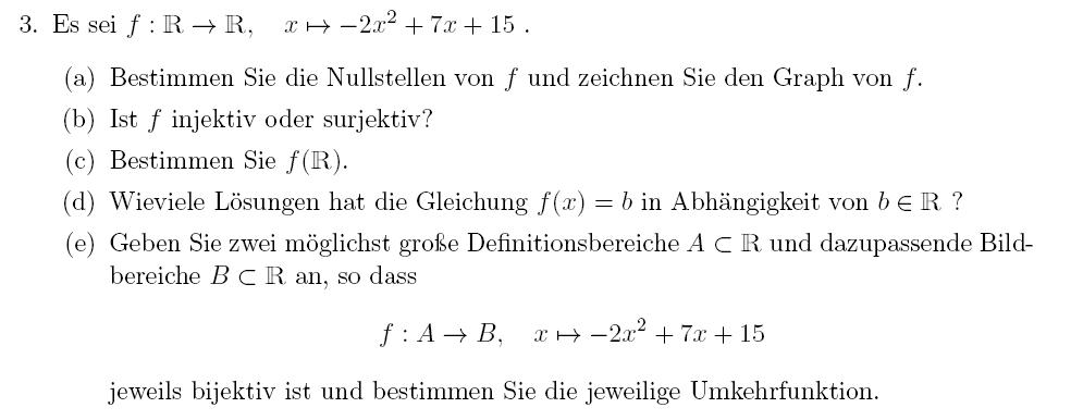 Injektiv bzw. surjektiv funktion - OnlineMathe - das mathe-forum