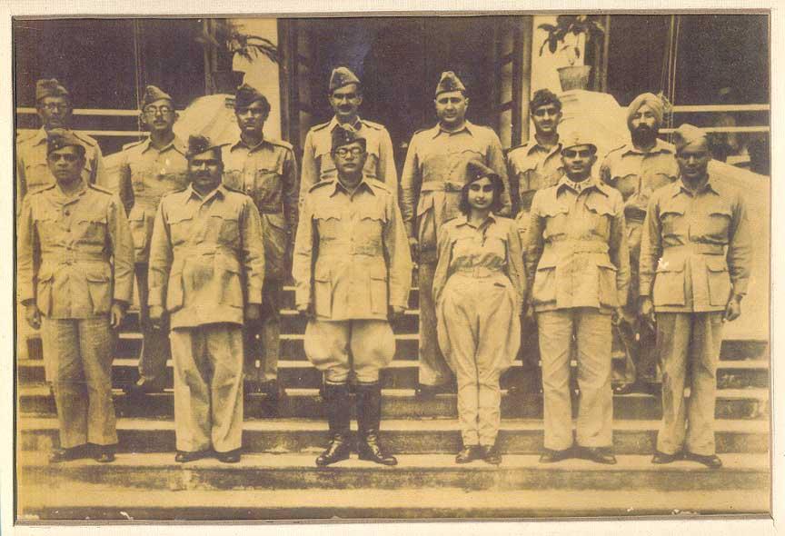 Netaji Subhas Chandra Bose and Members of the Azad Hind Fauj