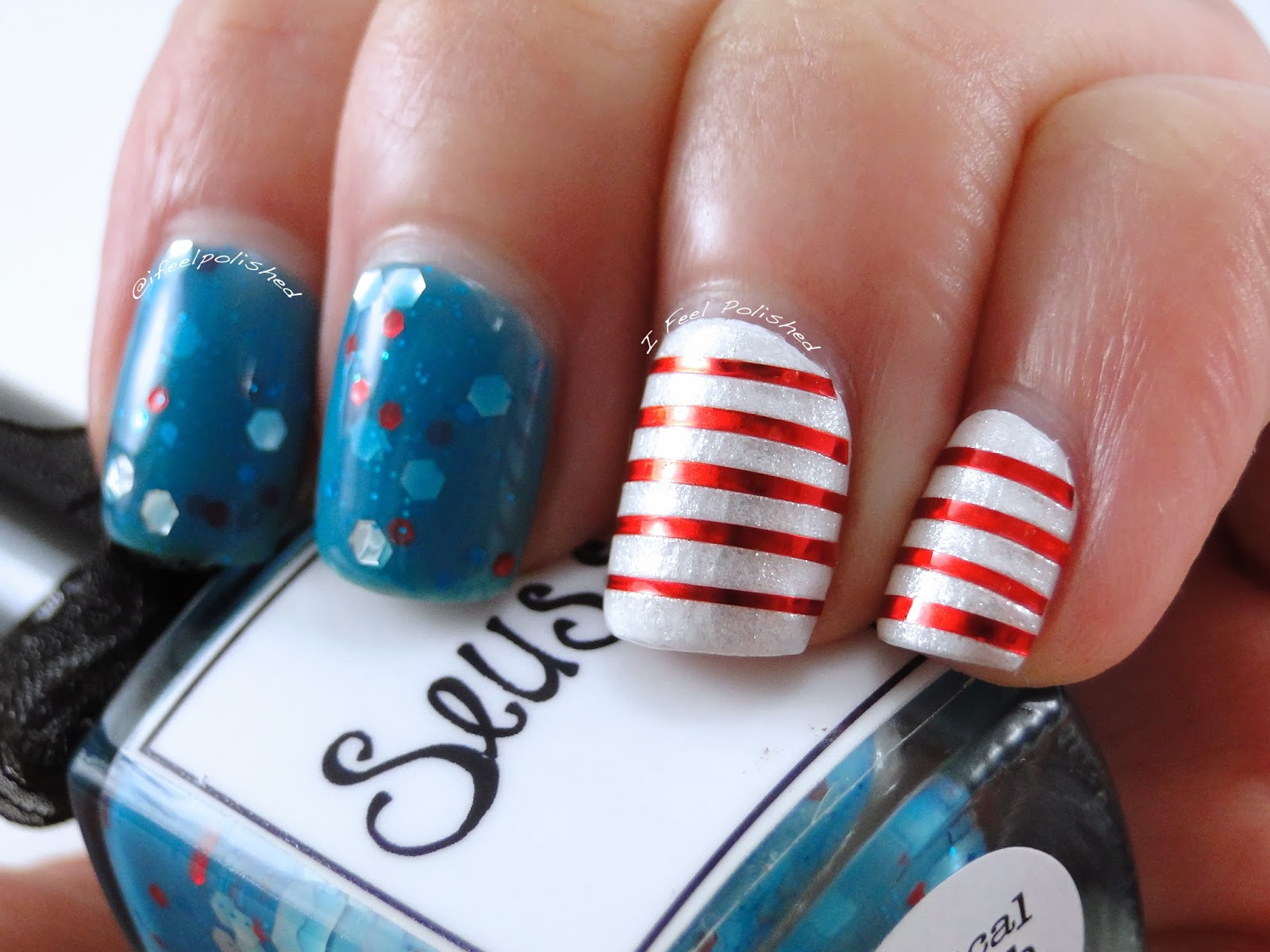 Dr. Seuss Birthday Nails