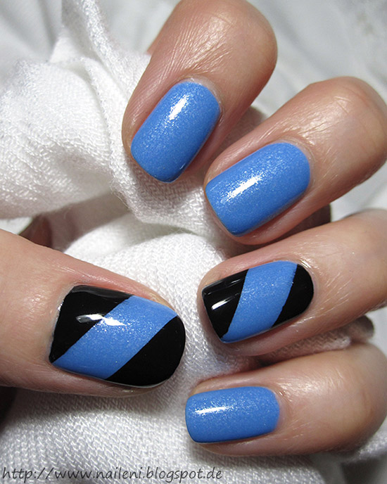 Nageldesign schwarz blau for Nageldesign matt