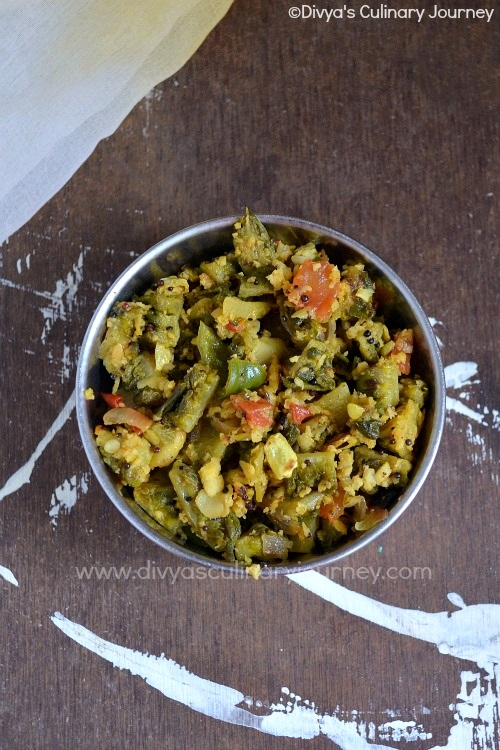 Easy to make Bitter gourd stir fry with Tomato