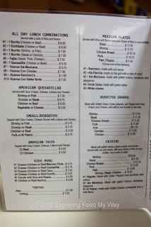 Ranchero's Taqueria's Menu Page 2