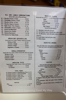 Ranchero's Taqueria's Menu Page 2