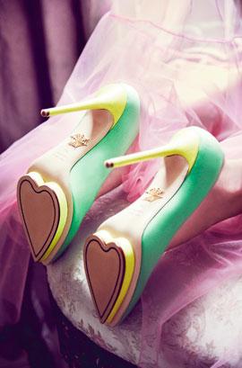 moda estilo corte costura sapatos charlotte olympia coração valentine's day