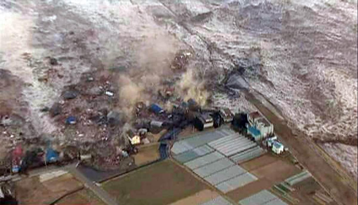 По рихтер и цунами поразиха япония