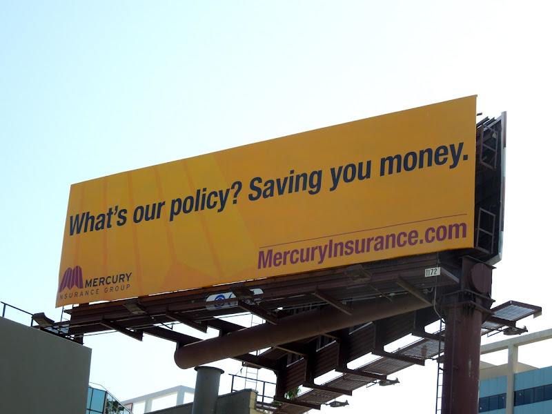 Mercury policy billboard