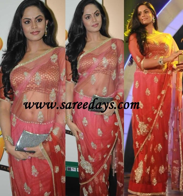 Latest saree designs karthika in pink designer net saree karthika in pink designer net saree thecheapjerseys Images