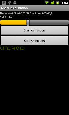 Set alpha of AnimationDrawable