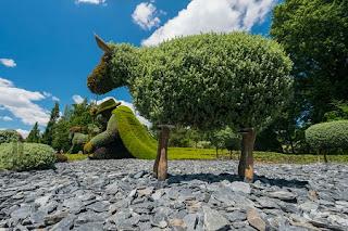 Esculturas Vivientes Hechas con Plantas, Jardines en Montreal