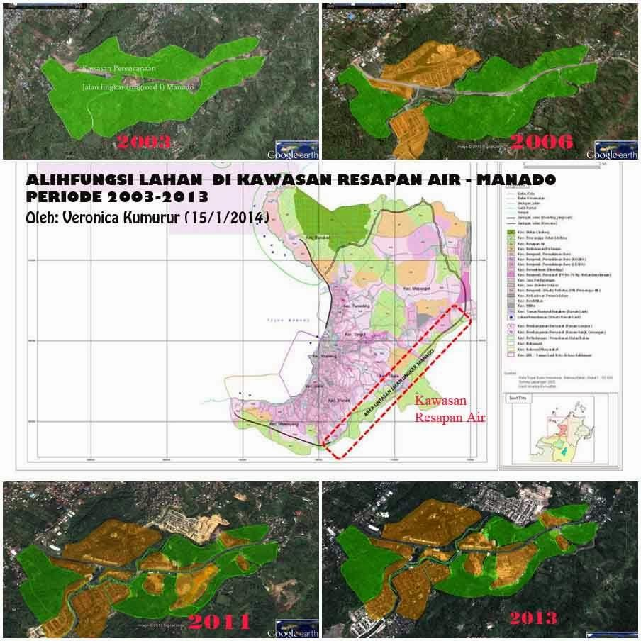 Alih Fungsi Lahan di Kawasan Resapan Air di Manado