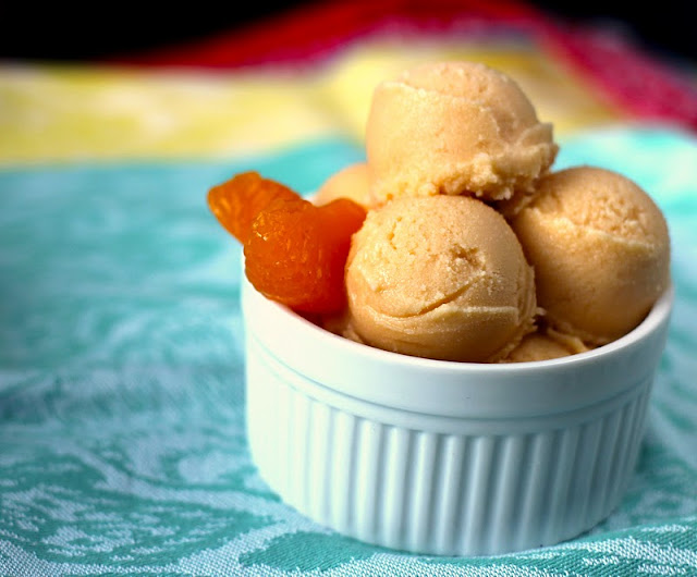 Healthy Orange Creamsicle Frozen Yogurt