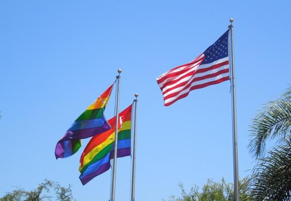 West Hollywood Pride flags