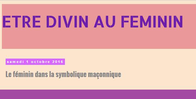 ETRE DIVIN AU FEMININ