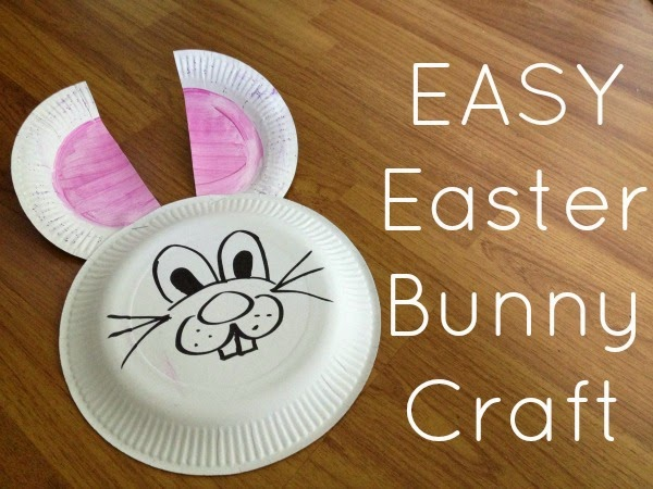 Easy Easter Craft Paper Plate Bunnies! & Beautifully Organised: Easy Easter Craft: Paper Plate Bunnies!