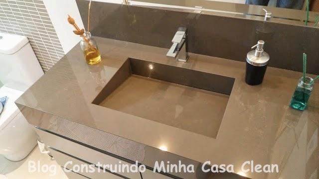 Construindo Minha Casa Clean A Beleza das Bancadas de Porcelanato! -> Pia Para Banheiro De Porcelanato