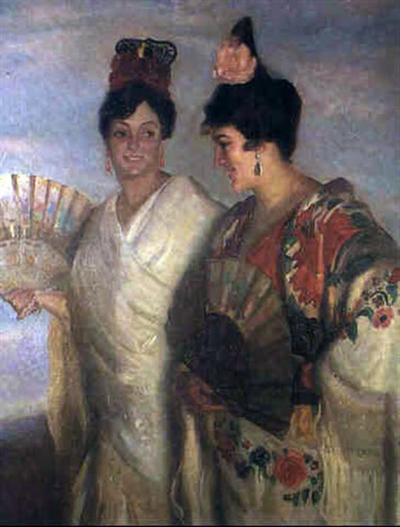 Victor Moya Calvo, Retrato de  Majas, Pintor Valenciano