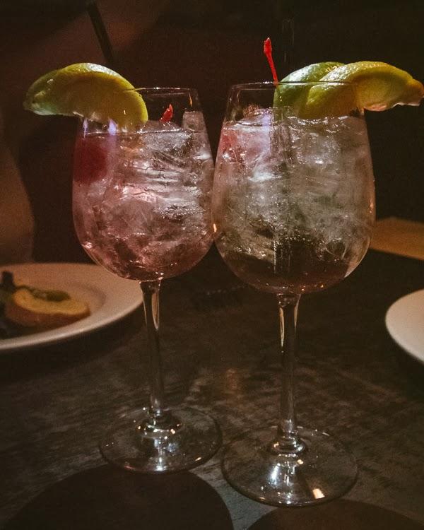 Drinks at Tin Angel Restaurant, Nashville TN