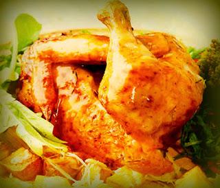 Pollo rostizado al horno