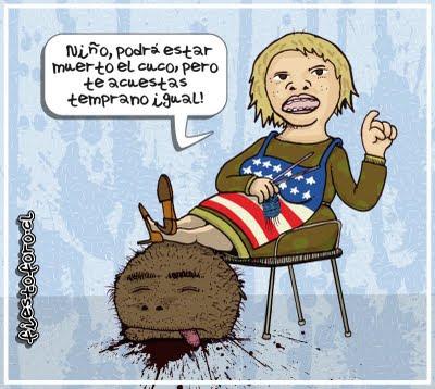 Caricatura de Bin Laden, el cuco ha muerto