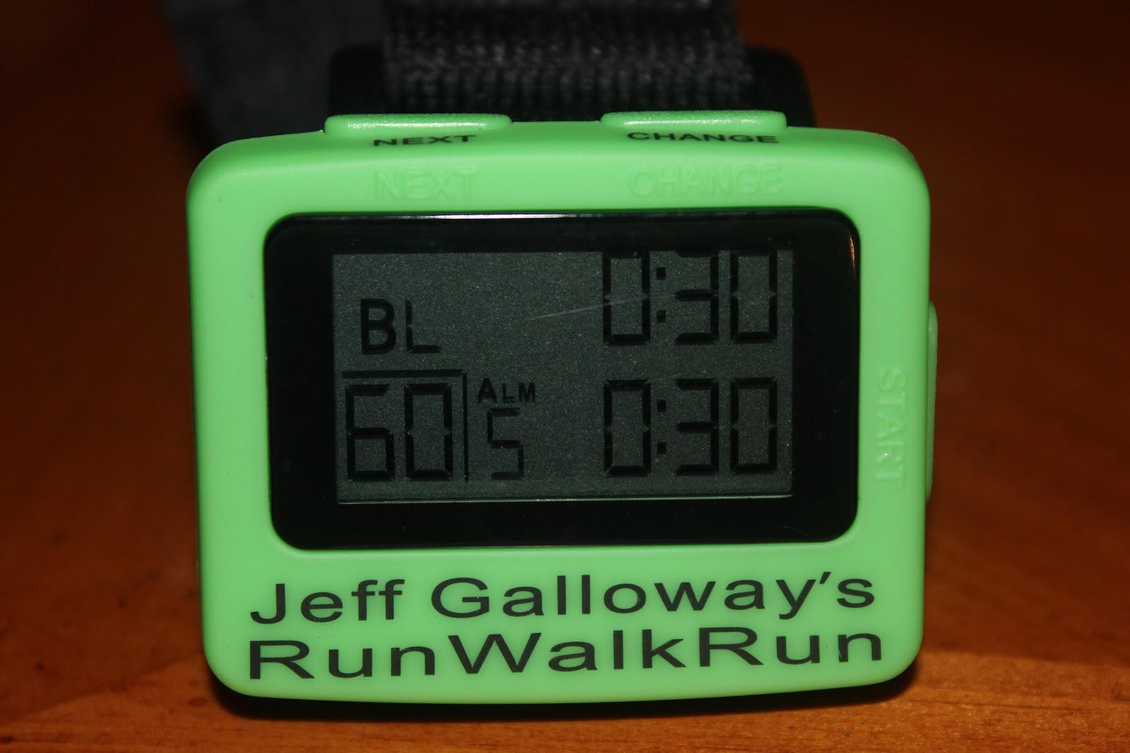 jeff galloway run walk run timer instructions
