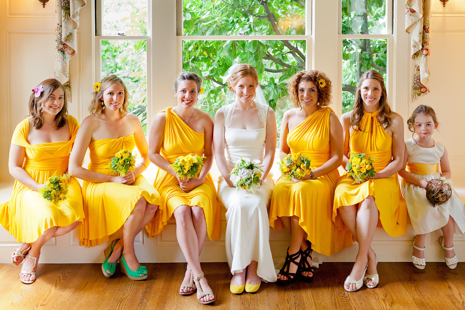 bridesmaid dresses colors yellow