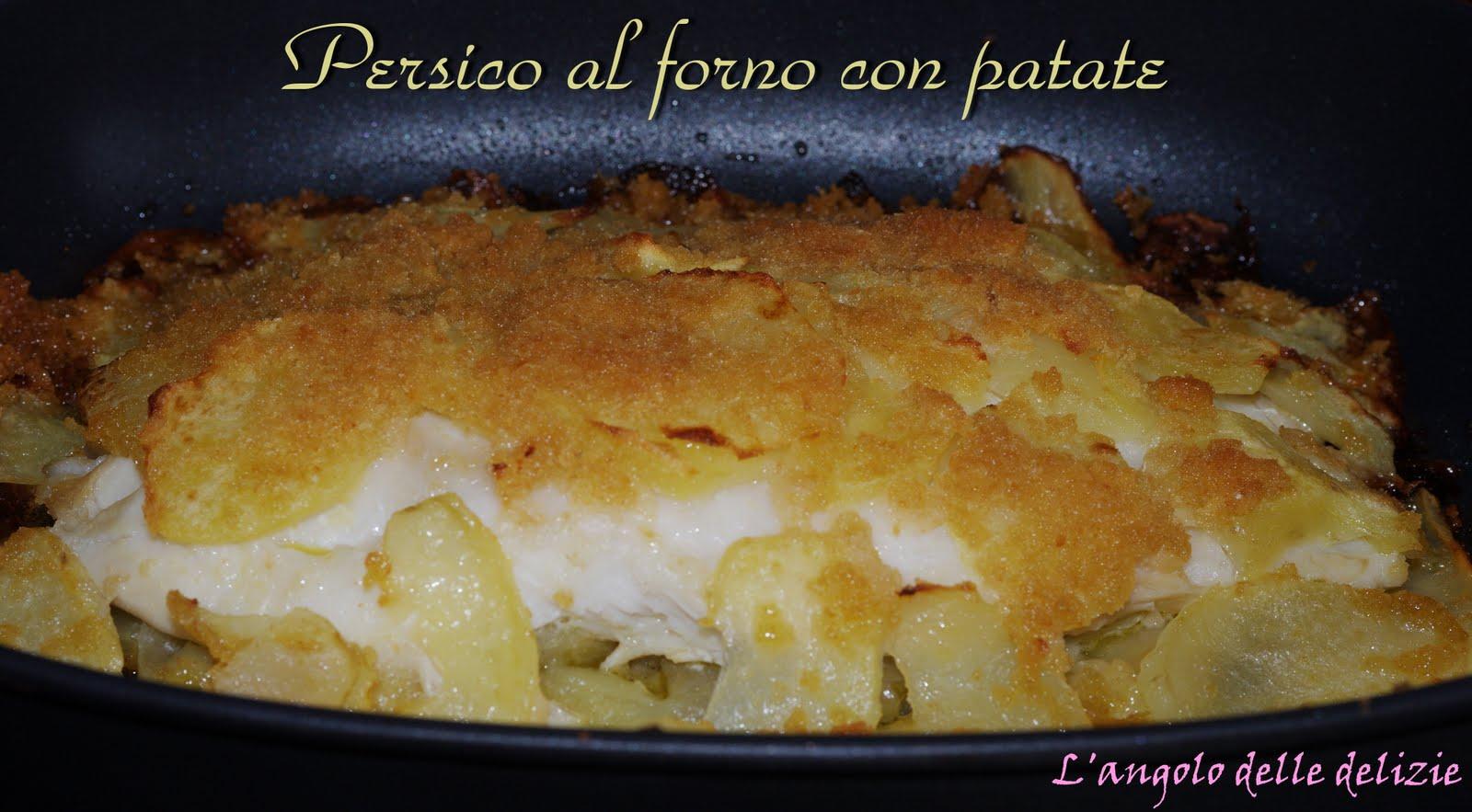 Ricetta pesce persico con patate al forno