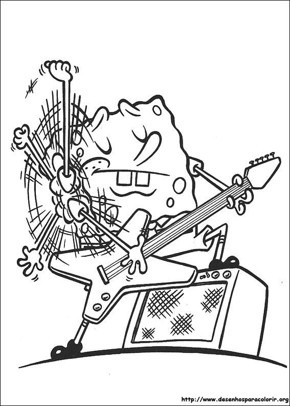 imagens para colorir do bob esponja - Jogo Pinte Bob Esponja e Sandy Jogos de Pintar