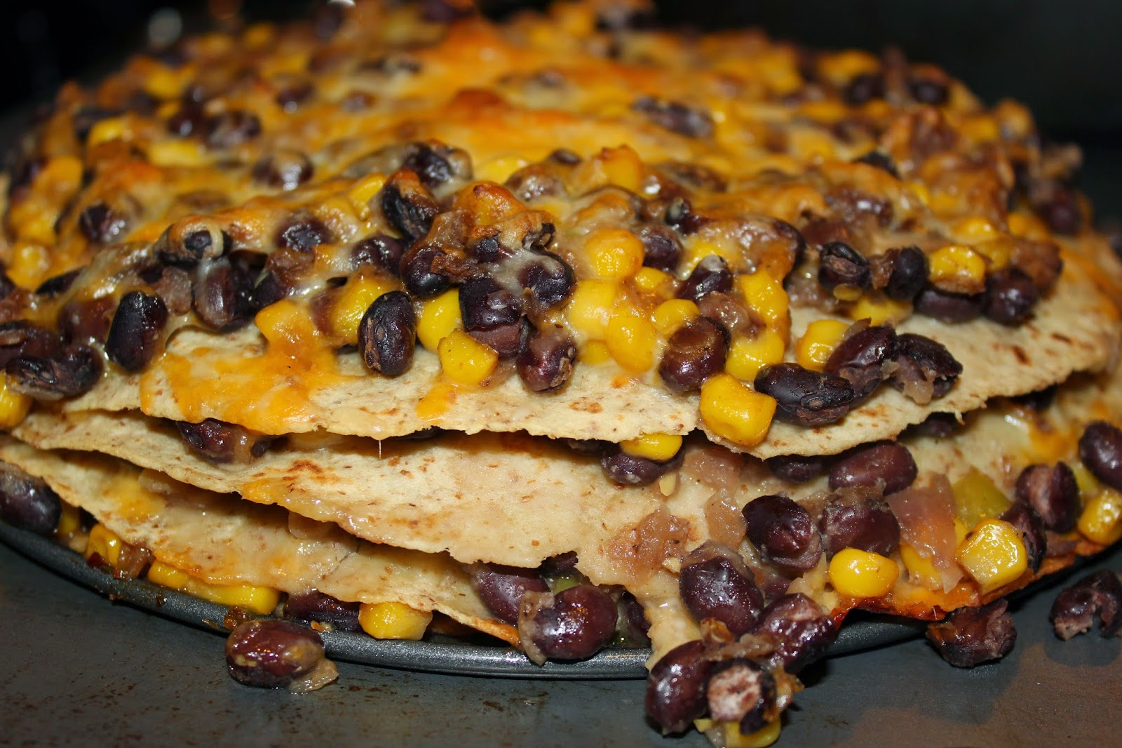 Jessica's Cookery: Tortilla and Black Bean Pie